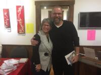 Avec l'artiste Luc Tessier